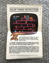 Donkey Kong **ORIGINAL COLOR TUNING INSTRUCTIONS INSERT ONLY** ColecoVision - $4.27