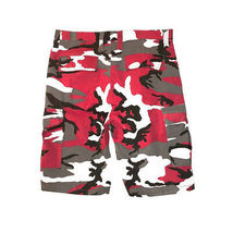 Men's Tactical Military Army Red Camo Camouflage Slim Fit Cargo Shorts - 36 image 3