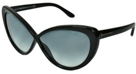 Tom Ford MADISON 253 01B Shiny Black / Gray Gradient Sunglasses TF253 01... - $155.82