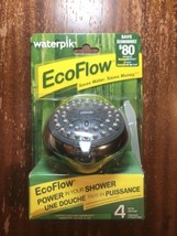 New WaterPik EcoFlow Shower Head Fixed Mount 4 Spray Settings Saves Water - $22.85