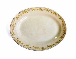 Homer Laughlin Ironstone Shamrock Serving Platter Green Irish 3 Leaf Clo... - $58.00