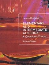 Elementary + Intermediate Algebra 4th Ed + Smarthinking [Hardcover] Lars... - $185.33