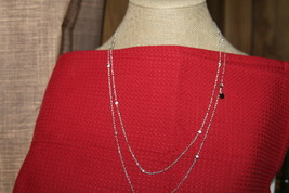 "Origami Owl Chain (New) 52"" Silver Crystal Station Chain (CN5071) - $37.91"
