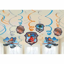 Dusty & Friends Disney Planes Movie Birthday Party Hanging Swirl Decorations - $10.66