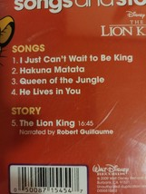 The Lion King by Disney Songs & Story Cd image 2