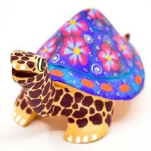 Handmade Alebrijes Oaxacan Wood Carving Painted Folk Art Turtle Tortoise Figure image 2