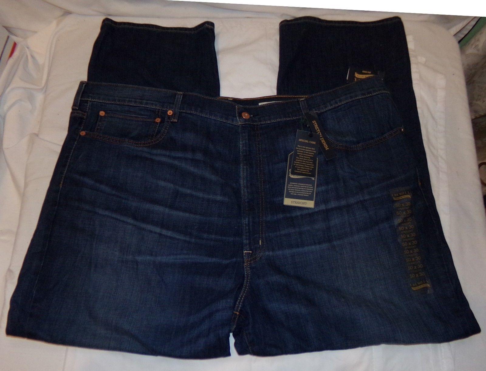 2cb02c61203 Cremieux Straight Stretch Denim Jeans 50 x 30 Mens NWT New - $34.72