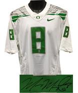 Marcus Mariota signed Oregon Ducks Nike White Limited Twill Jersey #8 L-... - $205.95