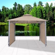 Garden Gazebo with Two Sunshade Wall Curtain Patio Canopy 130'' x 130'' ... - $249.99