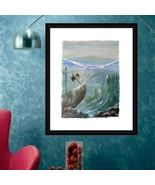 Acrylic Painting on Canvas Sunken Ships - $17.70