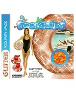 Brooke And Dylan Pool Candy Glitter Party 4 Pack, Tube, Drink floats, Ball - $22.05
