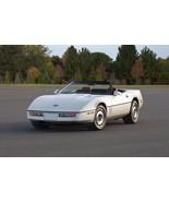 1987 Chevrolet Corvette Convertible POSTER 24 x 36 inch | white - £15.83 GBP