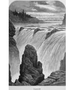 NEW JERSEY Passaic Falls - 1883 German Print - $21.60