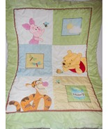 Disney Winnie the Pooh Crib Toddler Bed Comforter Bed Cover Tigger Pigle... - $24.72