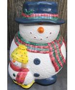Snowman Snowfolk Collection Cookie Jar - $28.00