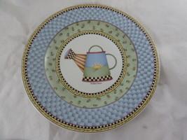SAKURA PLATE  WATERING CAN by DEBBIE MUMM 8 1/4 INDONESIA Stoneware 1999... - $5.93