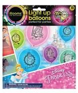 NEW illooms Disney Princess 15 Pack Light Up Balloons LED Cinderella Ari... - $9.49