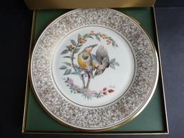 LENOX BOEHM BIRDS Meadowlark 1973 Porcelain Plate 24-karat Gold USA - $19.79