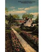LINEN POSTCARD- GARDENS OF LUDWELL-PARADISE HOUSE, WILLIAMSBURG, VA  BK16 - $2.45