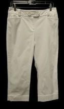 Anne Klein Size 6 White Pique Capri Pants Doubl... - $14.84