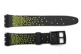 12mm da Donna, Nero/Giallo PVC Ricambio Orologio con Cinturino per Swatch - $9.89