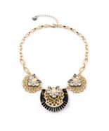 Women Gold Color Short Choker Rhinestone Princess Bubblegum Necklace - $22.47