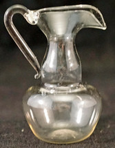 Delicate Miniature Featherweight Hand Blown Bimini Clear Glass Pitcher - $25.99