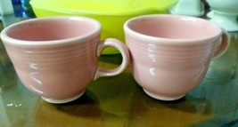 Pair of Fiesta ware tea coffee cups Pink with stamp on bottom - $5.99