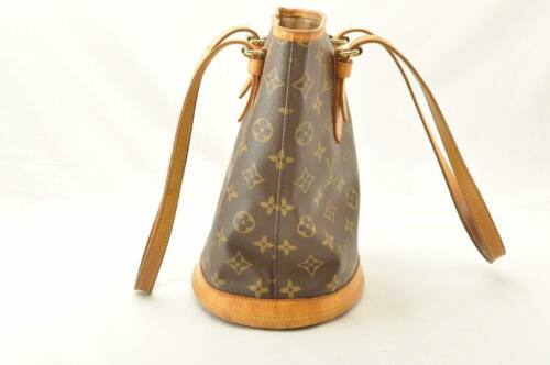 LOUIS VUITTON Monogram Bucket PM Shoulder Bag M42238 LV Auth 11122 **Sticky image 4