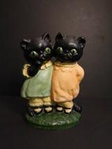 "All Original HUBLEY Black Cat Doorstop Grace DRAYTON 7"" Cast Iron 1920 N... - $1,995.00"