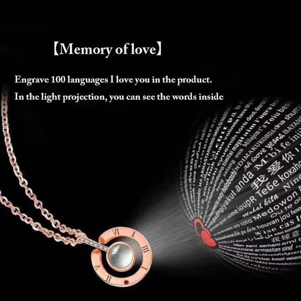 "XUFAN Romantic Projection (""I Love You"") Ladies Pendant - Various Styles, CZ image 2"