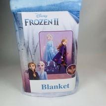 "Frozen II Elsa & Anna Soft Plush Blanket, Kids 62""x90"" Disney - $29.69"