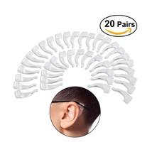 NUOLUX Eyeglasses Anti-skid Ear Pads Ear Hook 20 Pairs (Transparent) - $9.24