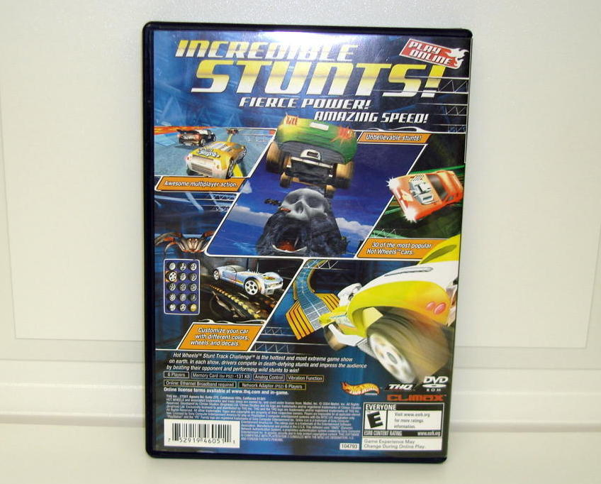 Hot Wheels Stunt Track Challenge PS2 Sony Video Game Used