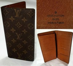 Louis Vuitton Monogram Brazza Long Wallet Brown Leather Made In France N... - $499.86