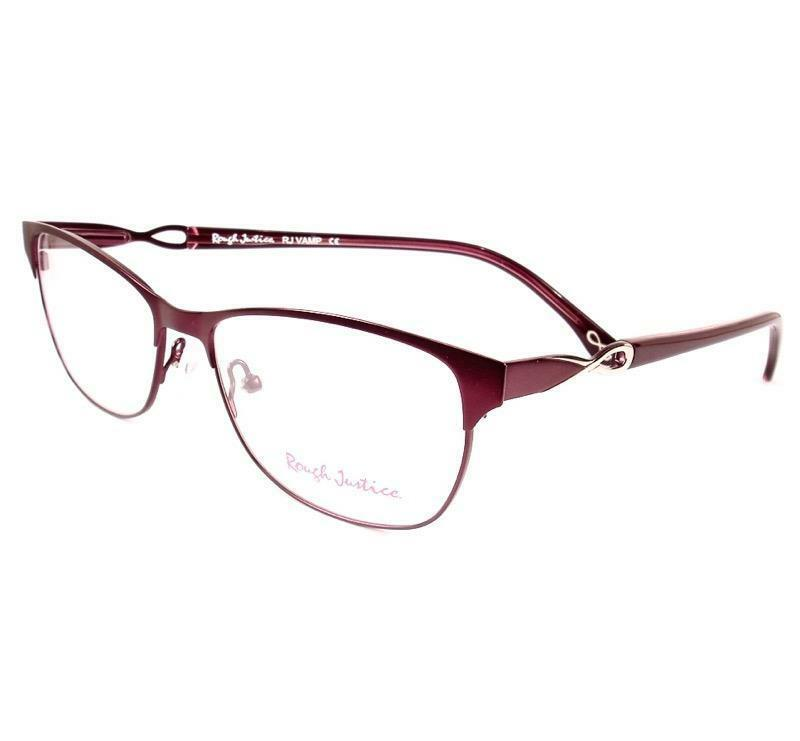 Primary image for Rough Justice Eyeglasses Vamp Purple Women New 54-14-140