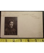 Pretty Young Lady Photo Post Card Early 1900`S Wow! - $4.00
