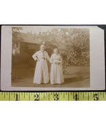 Two Old Babes Outside Photo Post Card Early 1900`S Wow! - $3.00