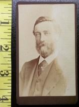 CDV Carte De Viste Photo Full Bearded Man dated 1885 - $3.20