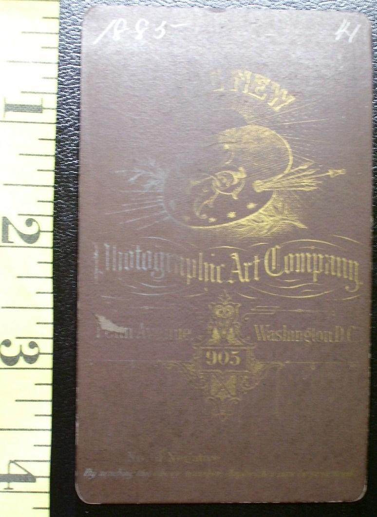 CDV Carte De Viste Photo Full Bearded Man dated 1885