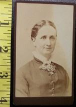 CDV Carte De Viste Photo Pretty Lady Dated 1885! - $3.20