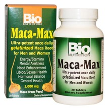Bio Nutrition, Maca Max, 1,000 mg, 30 Tablets( 2 PACK ) - $69.85