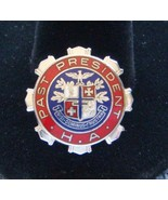 STERLING SILVER RED WHITE BLUE ENAMEL PAST PRESIDENT HOSPITAL ASSOCIATIO... - $24.95
