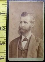 CDV Carte De Viste Photo Full Bearded Man! c.1859-80 - $3.20