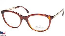 New Chanel Ch 3357 c.1580 Dark Red Havana Eyeglasses Frame 53-18-140 B41mm Italy - $259.69