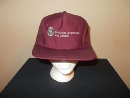 VTG-1980s GE General Electric Distributor mesh trucker dealer snapback hat - $27.83