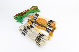 Lot of 15 Mixed DMC Cotton A Broder Embroidery Floss & Thread 8m Number 25 - $11.88