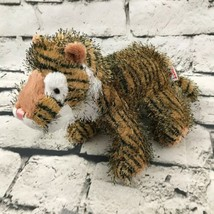 Webkinz Ganz Tiger Plush Striped Shaggy Stuffed Animal Soft Africa Wildl... - $7.91