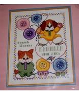 Janlynn~CUTE AS A BUTTON BIRTH ANNOUNCEMENT~counted cross stitch kit - $8.98
