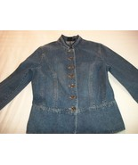 WOMEN SONOMA BLUE JEAN JACKET S SMALL M MEDIUM - $6.99